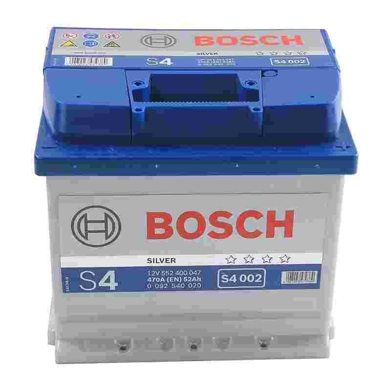 Аккумулятор S4 52Ач 470А BOSCH 0 092 S40 020