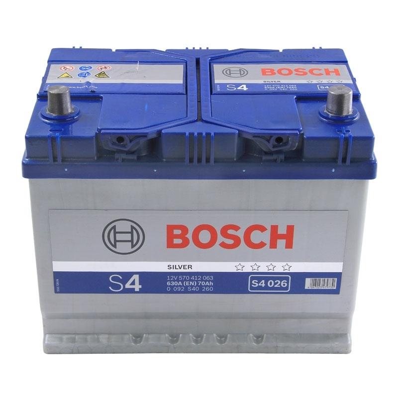 Аккумулятор S4 70Ач 630А BOSCH 0 092 S40 260
