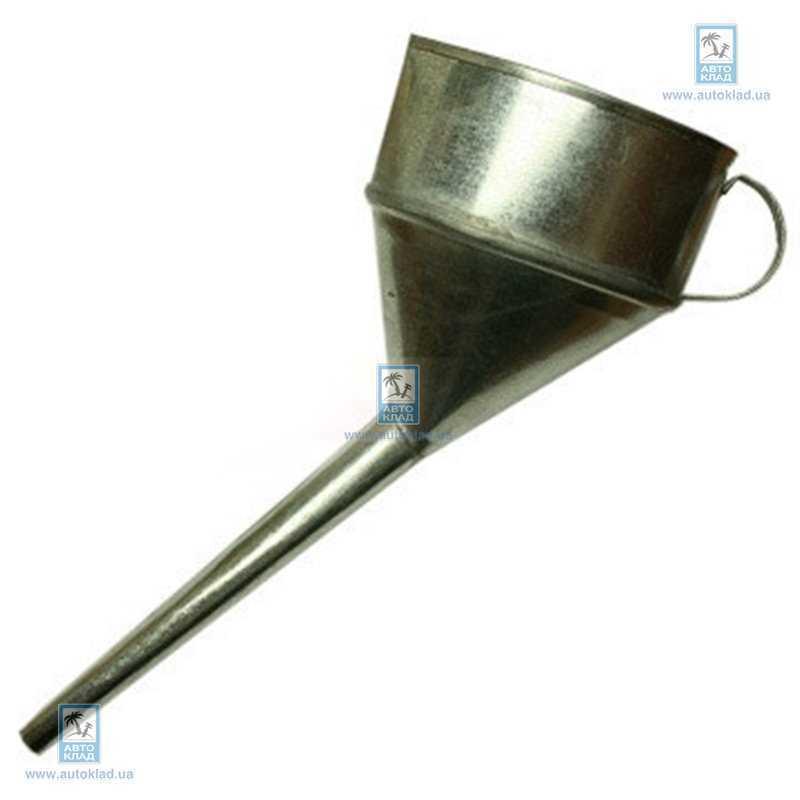 Лейка металлическая косая под клапан CARLIFE FM001