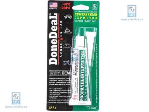 Клей для стекла силиконовый 42.5г DONE DEAL DD6703