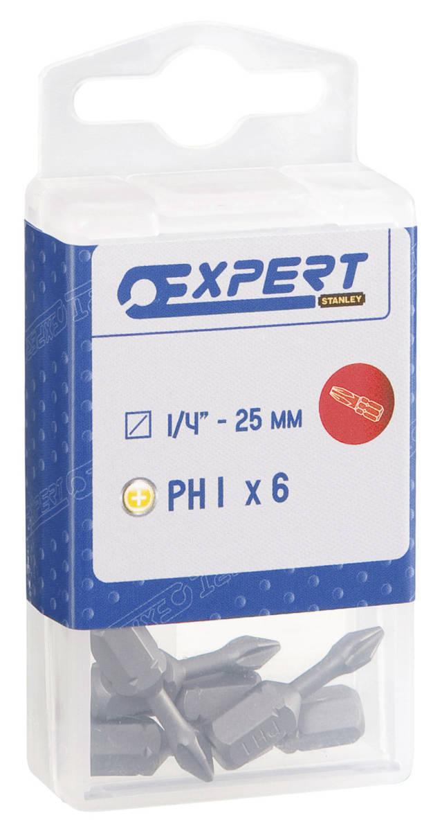 Набор бит 1/4'' 6 предметов 25мм PH1 EXPERT E113685