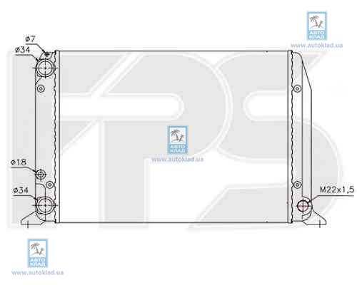 Радиатор охлаждения FPS 12A417