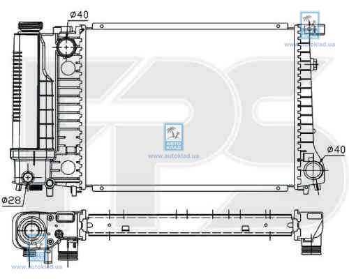 Радиатор охлаждения FPS 14A17X