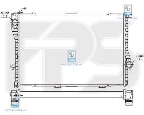 Радиатор охлаждения FPS 14A31