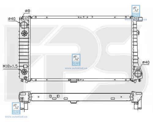 Радиатор охлаждения FPS 14A39X