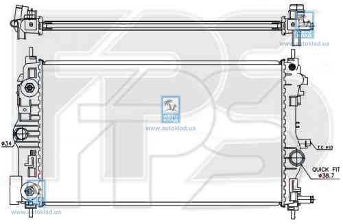 Радиатор охлаждения FPS 17A05X