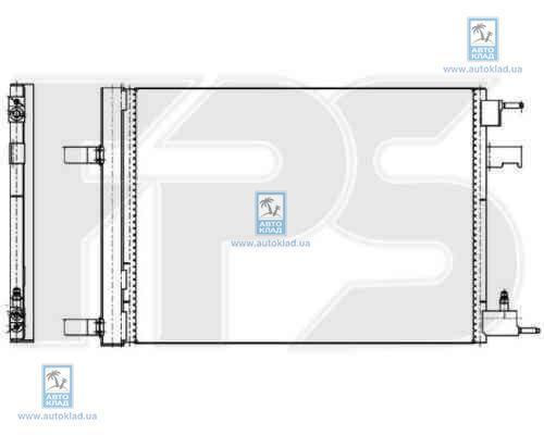 Радиатор кондиционера FPS 17K250X