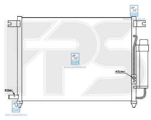 Радиатор кондиционера FPS 17K336