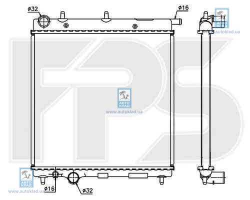 Радиатор охлаждения FPS 20A74