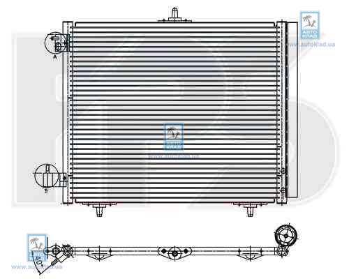 Радиатор кондиционера FPS 20K25