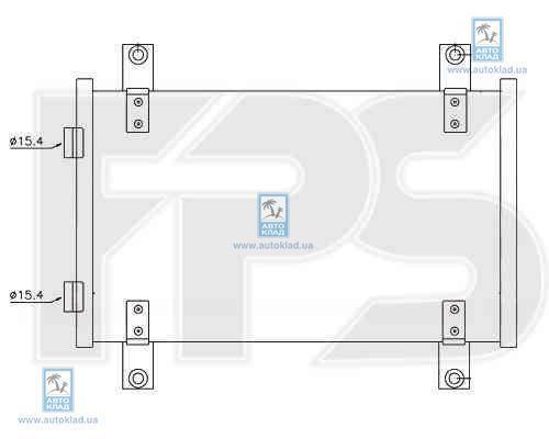 Радиатор кондиционера FPS 20K61