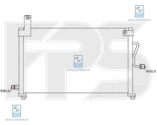 Радиатор кондиционера FPS 22K315