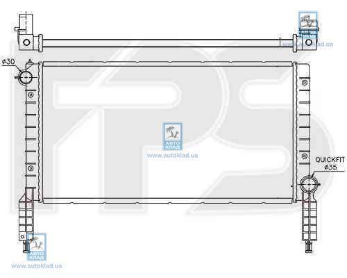 Радиатор охлаждения FPS 26A139X