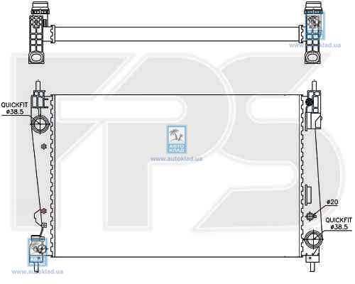 Радиатор охлаждения FPS 26A307