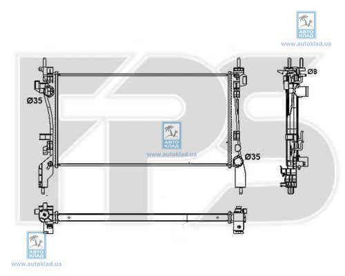 Радиатор охлаждения FPS 26A72X