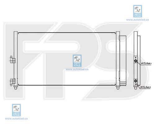 Радиатор кондиционера FPS 26K55X