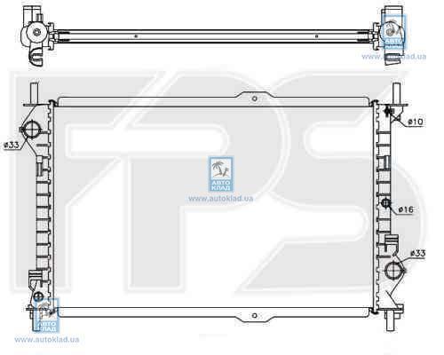 Радиатор охлаждения FPS 28A1448X