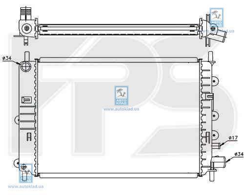 Радиатор охлаждения FPS 28A161