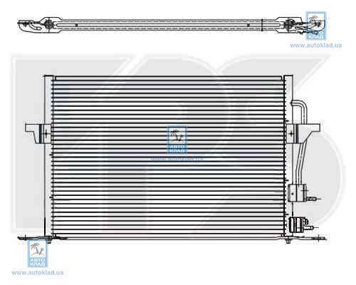Радиатор кондиционера FPS 28K70