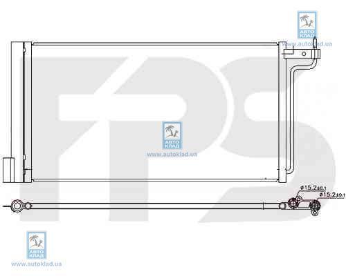 Радиатор кондиционера FPS 28K800X