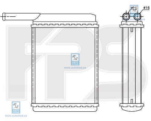 Радиатор отопителя салона FPS 28N17