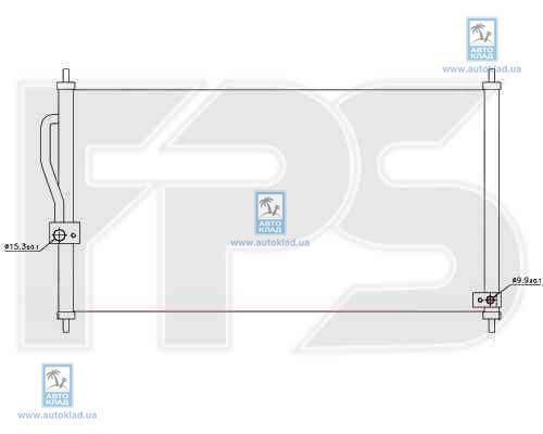Радиатор кондиционера FPS 30K260