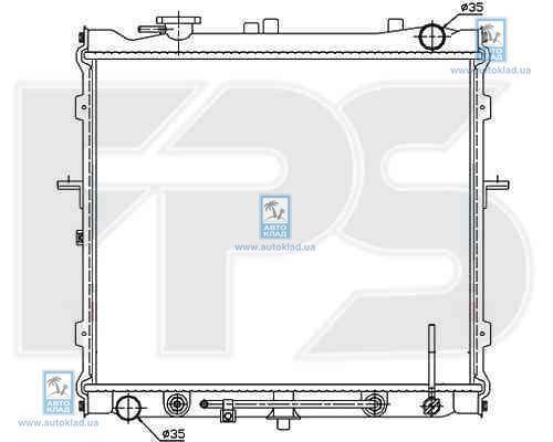 Радиатор охлаждения FPS 40A1087