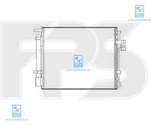 Радиатор кондиционера FPS 40K289X