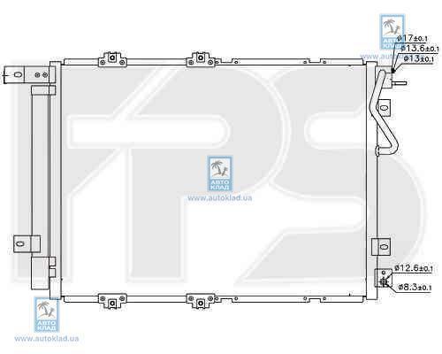 Радиатор кондиционера FPS 40K299