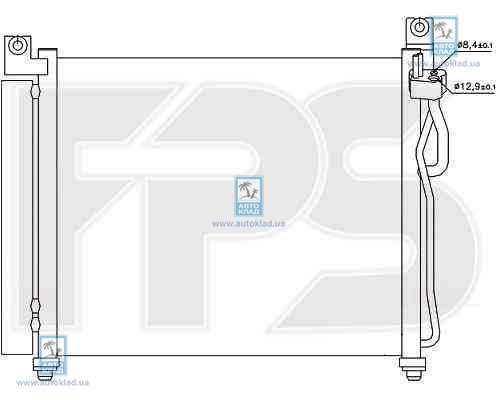 Радиатор кондиционера FPS 40K328