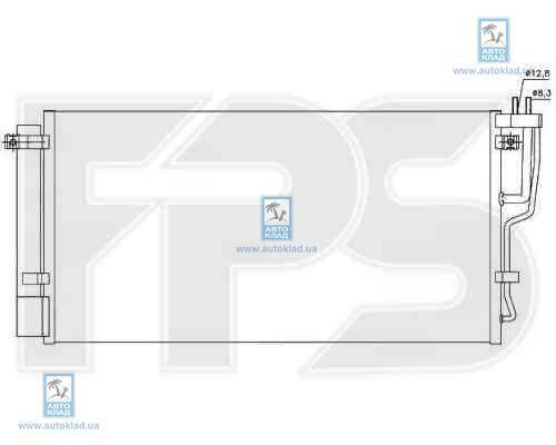 Радиатор кондиционера FPS 40K504X