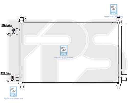 Радиатор кондиционера FPS 44K220X