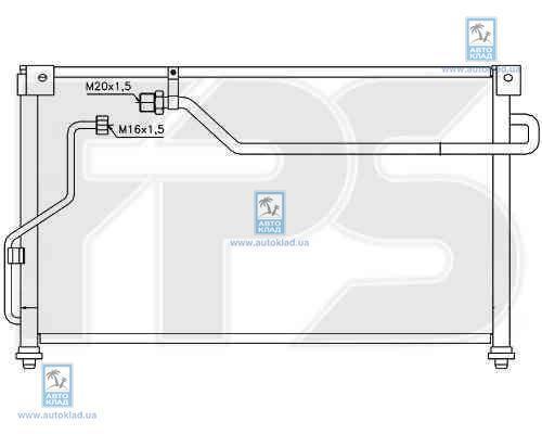Радиатор кондиционера FPS 44K283