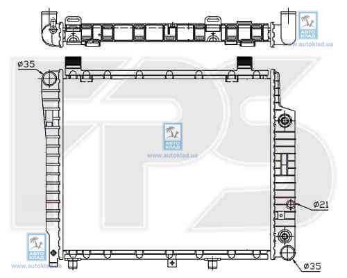Радиатор охлаждения FPS 46A1012