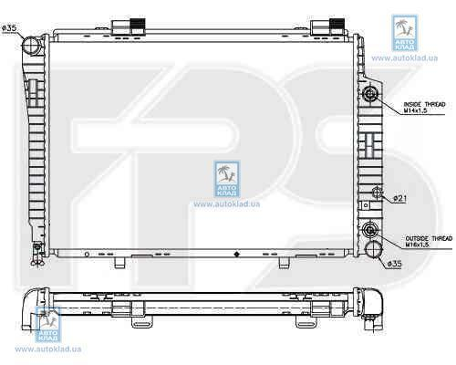 Радиатор охлаждения FPS 46A205X