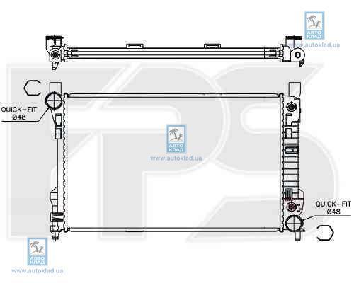 Радиатор охлаждения FPS 46A228X