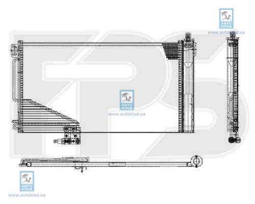 Радиатор кондиционера FPS 46K108