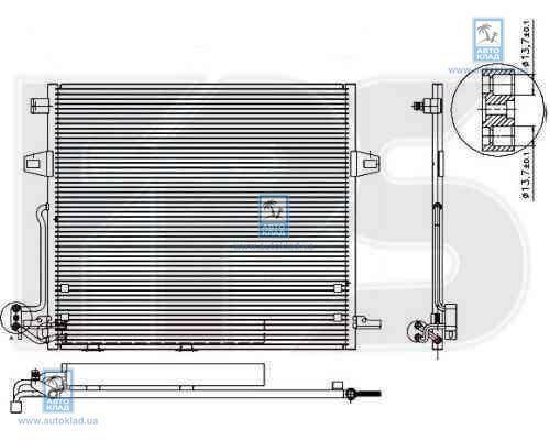Радиатор кондиционера FPS 46K147