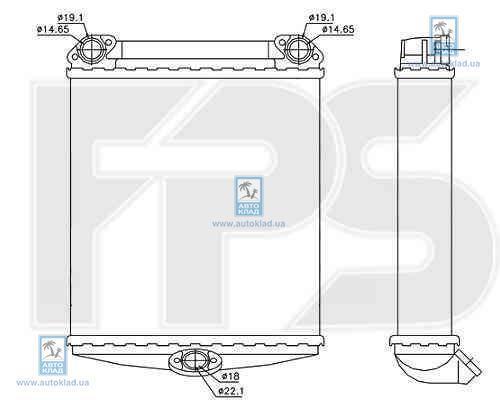 Радиатор отопителя салона FPS 46N119