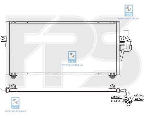 Радиатор кондиционера FPS 48K240X