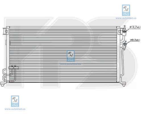 Радиатор кондиционера FPS 48K248