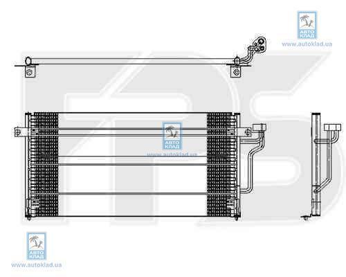 Радиатор кондиционера FPS 48K415X