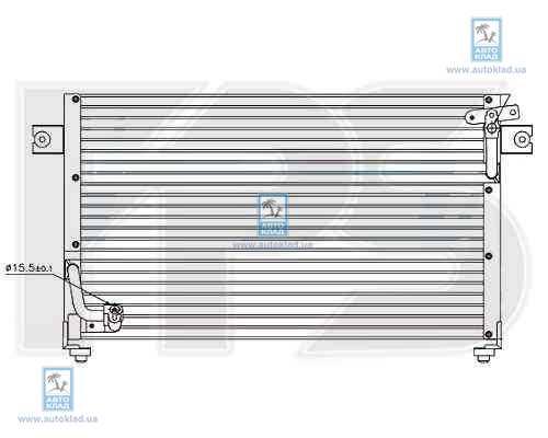 Радиатор кондиционера FPS 48K444
