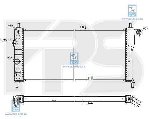 Радиатор охлаждения FPS 52A254