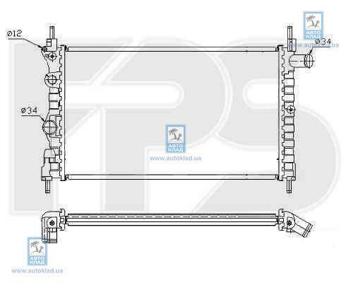 Радиатор охлаждения FPS 52A271P