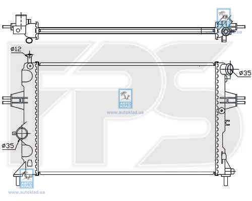 Радиатор охлаждения FPS 52A288X