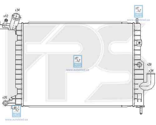 Радиатор охлаждения FPS 52A298