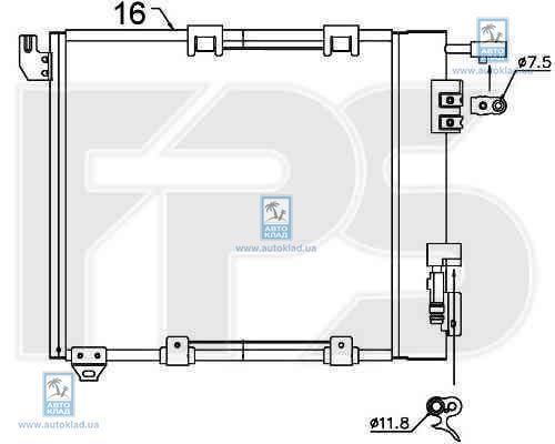 Радиатор кондиционера FPS 52K122