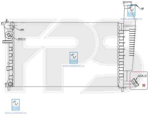 Радиатор охлаждения FPS 54A1122