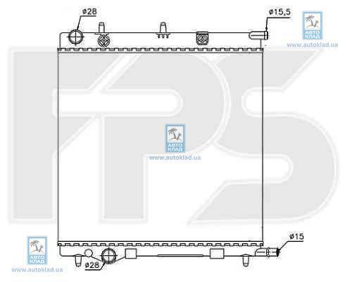 Радиатор охлаждения FPS 54A71X
